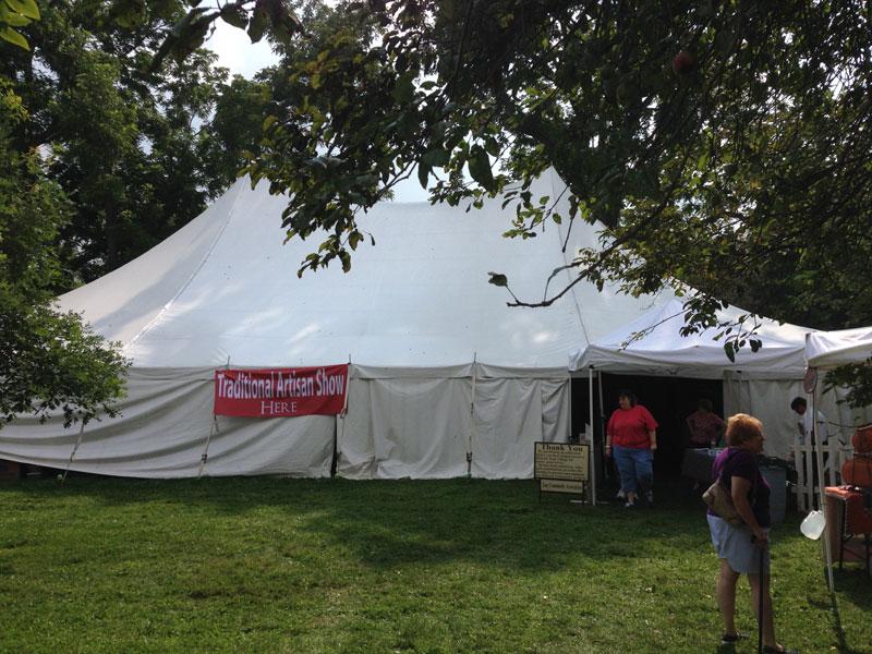The Artisans Tent at Zoar Ohio - Traditional American Folk Art - Zoar Harvest Festival