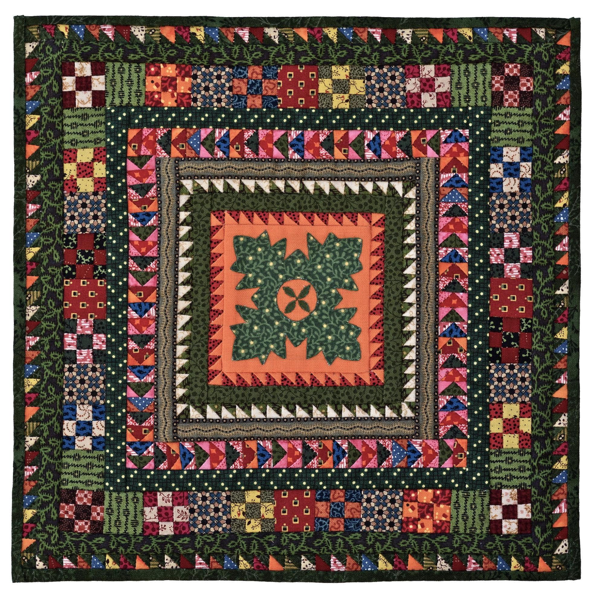 Miniature quilt by Kathie Ratcliffe