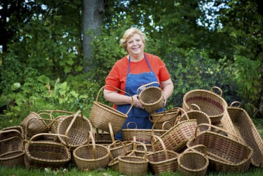 Karen Wychock - Shaker Baskets - The Traditional Artisans Tent at Zoar Ohio