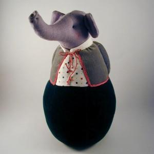 Elephant sew art by Deborah Hartwick