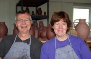 Greg & Mary Shooner - Redware - The Artisans Tent at Zoar Ohio