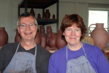 Greg & Mary Shooner - Redware - The Artisans Tent at Zoar Ohio