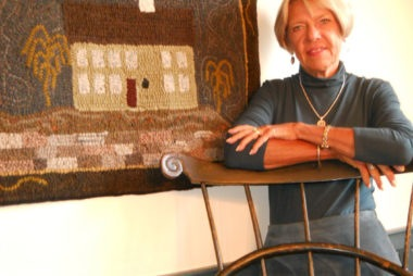 Marilyn Willmore - Primitive Hooked Rugs and Accessories - The Artisans Tent at Zoar Ohio