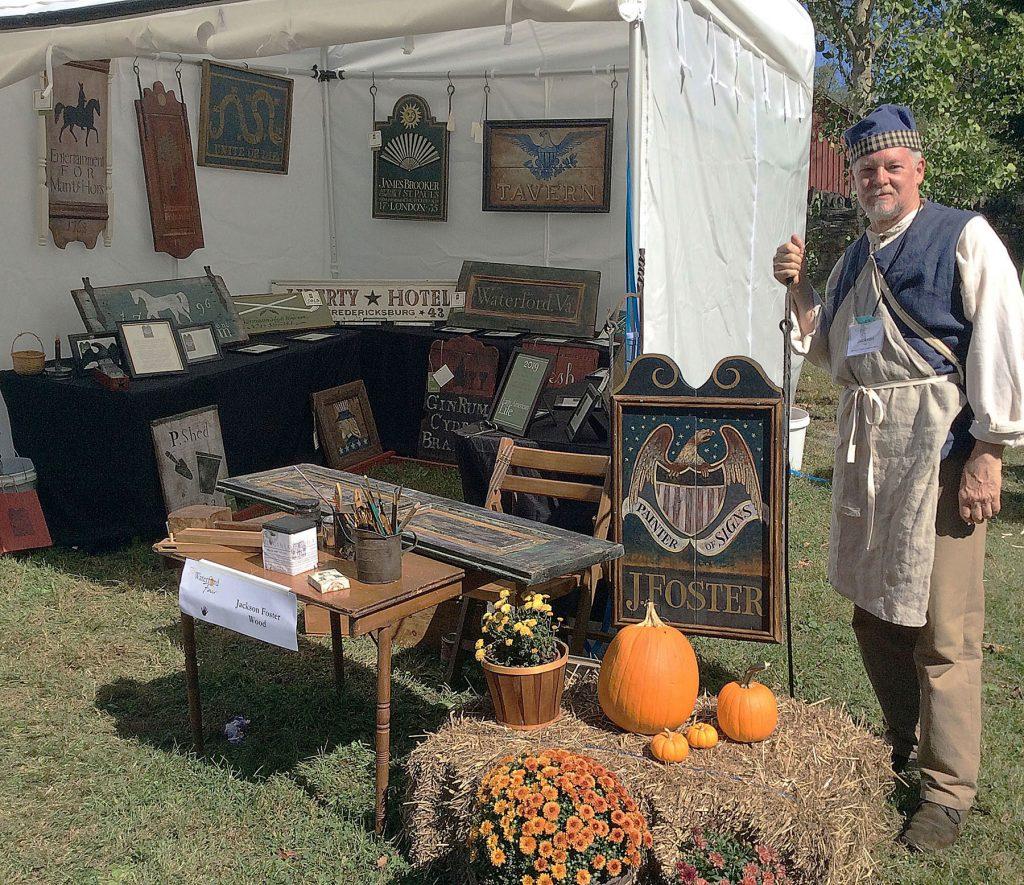 Jackson Foster - historic sign maker - Zoar Artisans Tent