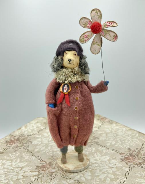 Stacey Bear - Spun Cotton Ornaments - The Artisans Tent at Zoar Ohio